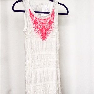 Straight Line Lace Dress w/ Detailing